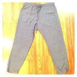 Casual blue pattern Joggers